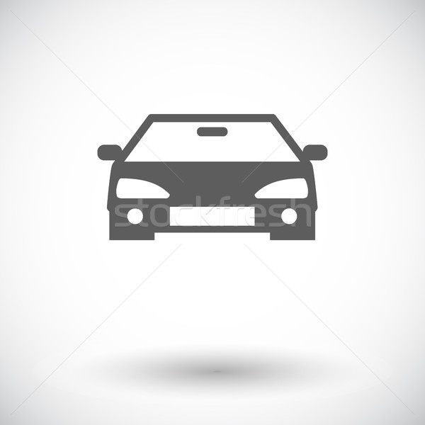 Stock photo: Car flat icon.