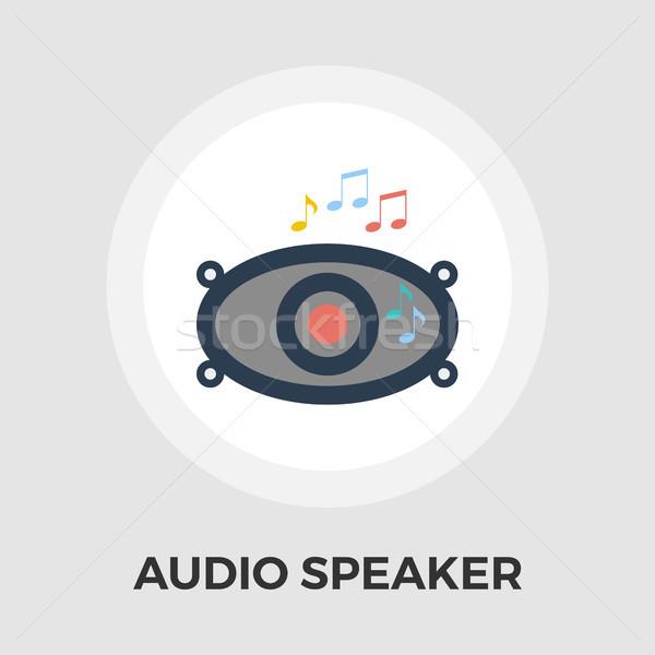 Stock photo: Car speakers flat icon