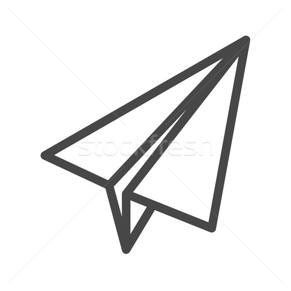 Paper Airplane Thin Line Vector Icon Stock photo © smoki