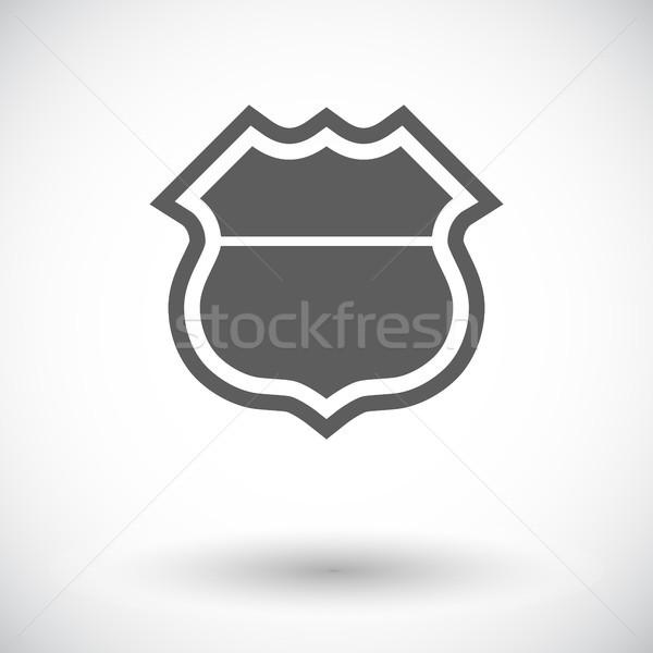 Senalización de la carretera icono blanco carretera calle signo Foto stock © smoki