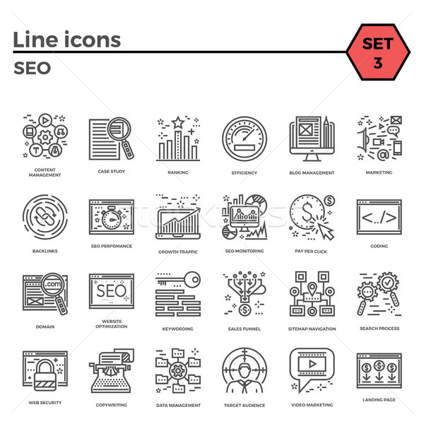 Seo icon set Stock photo © smoki
