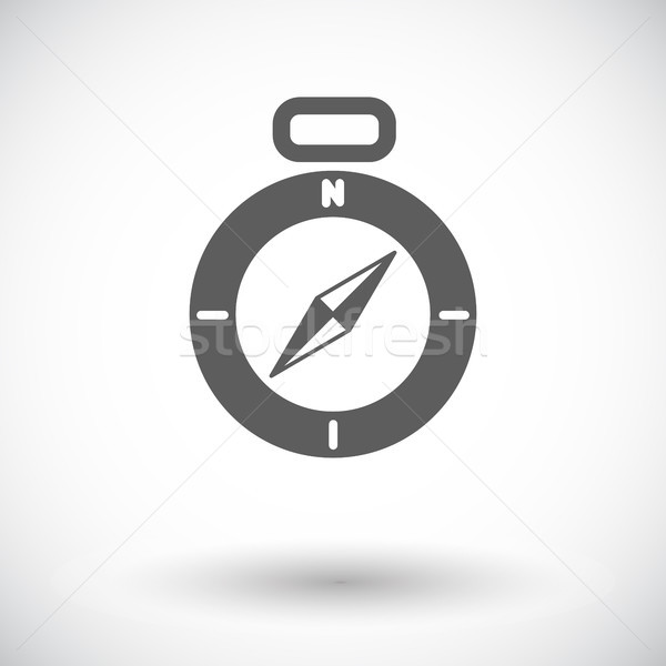 Brújula icono blanco aumentó mapa viaje Foto stock © smoki