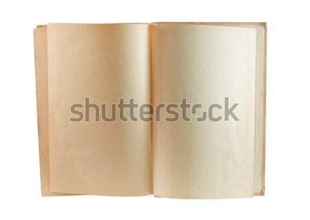 Velho livro dois papel livro retro Foto stock © smoki