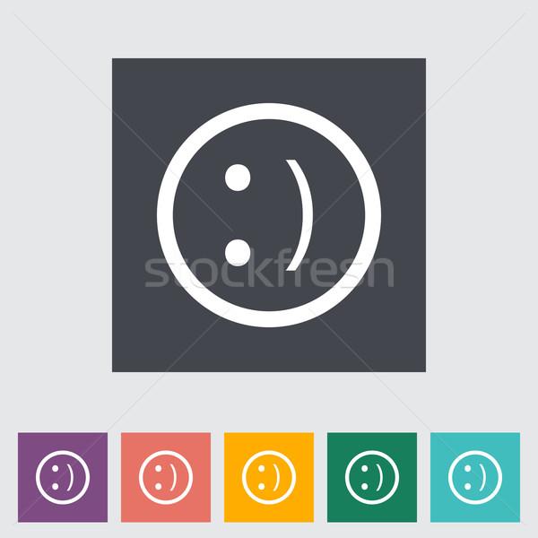 Smile flat icon. Stock photo © smoki