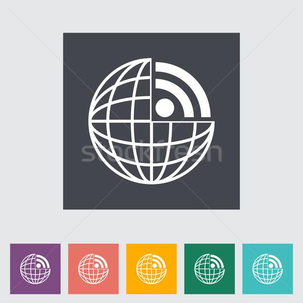 Rss ikona komputera świecie ziemi sztuki Zdjęcia stock © smoki