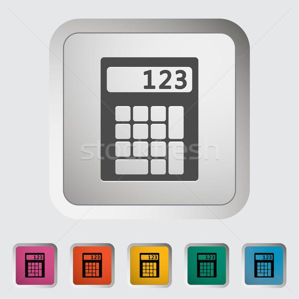 Kalkulator ikona projektu technologii klawiatury ekranu Zdjęcia stock © smoki