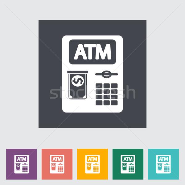 ATM ikon iş para klavye sanat Stok fotoğraf © smoki