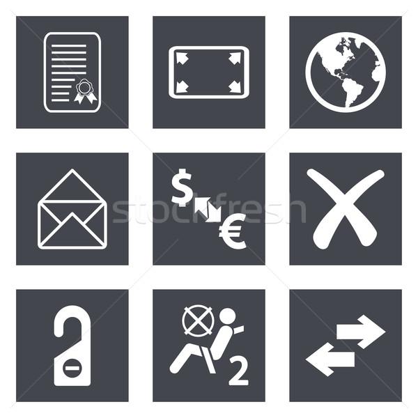 Ikonok web design szett mobil applikációk pénz Stock fotó © smoki