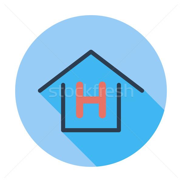 Herberg kleur icon business huis ontwerp Stockfoto © smoki