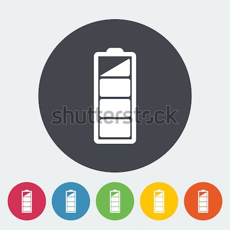 Charging the battery, flat single icon. Stock photo © smoki