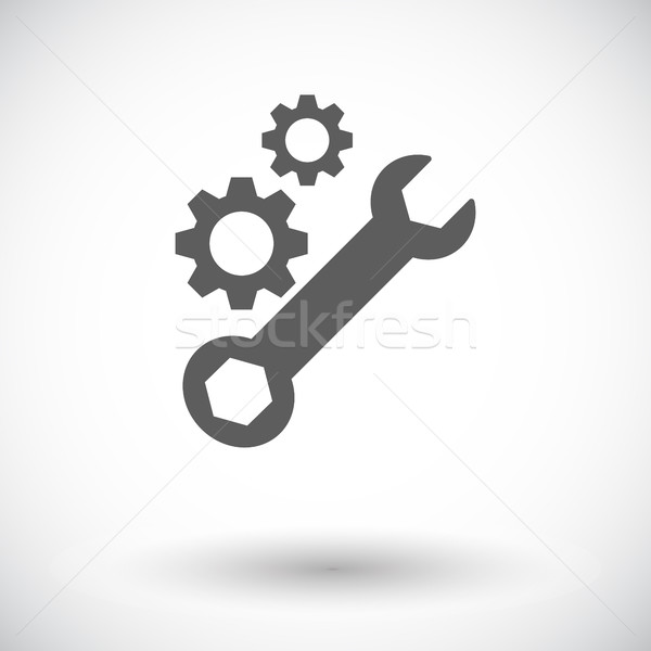 Setting single icon. Stock photo © smoki