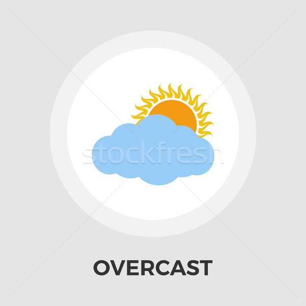 Overcast vector flat icon Stock photo © smoki