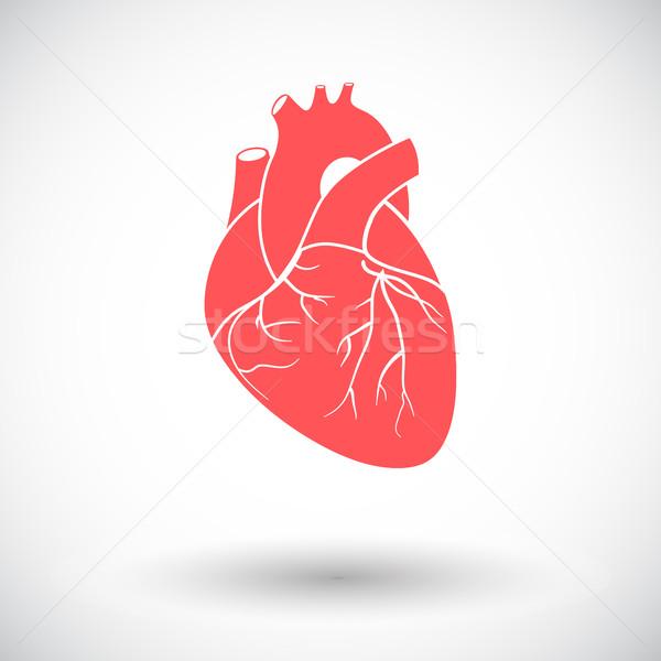 сердце икона белый любви дизайна красоту Сток-фото © smoki