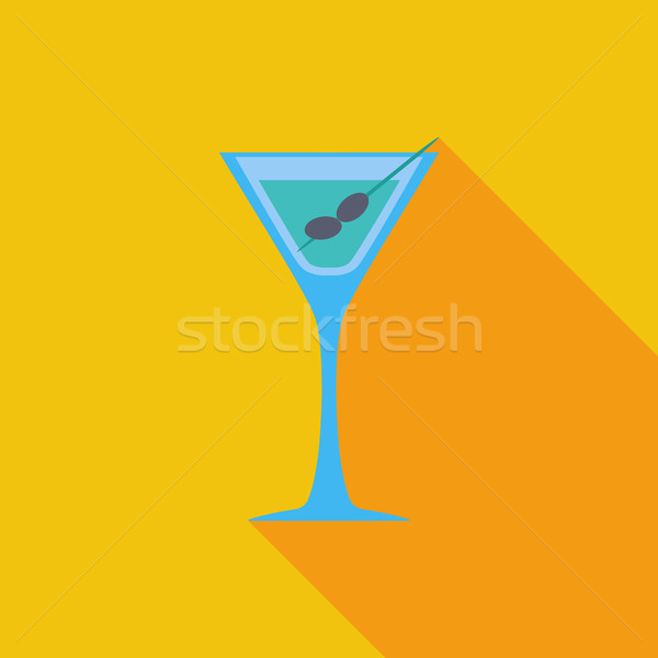 Martini icon vector lang schaduw web Stockfoto © smoki