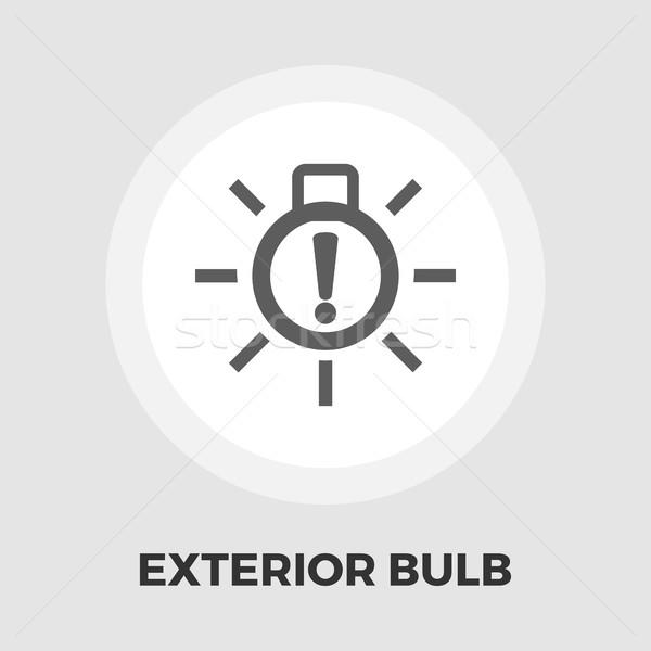 Exterior bulb failure flat icon Stock photo © smoki