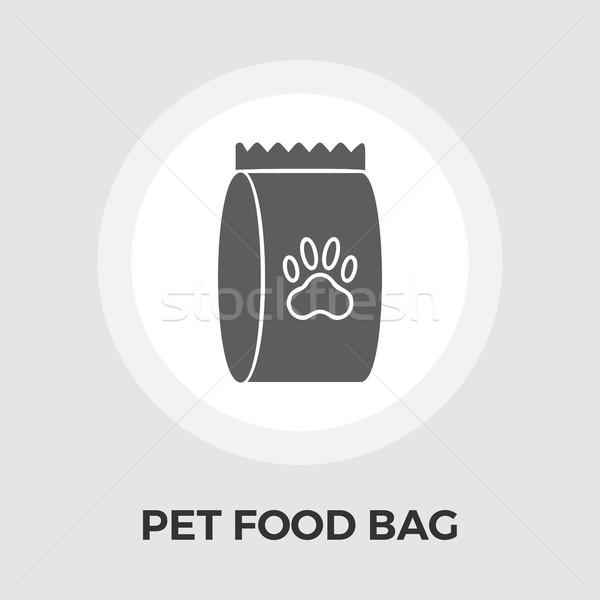 Pet food bag vector flat icon Stock photo © smoki