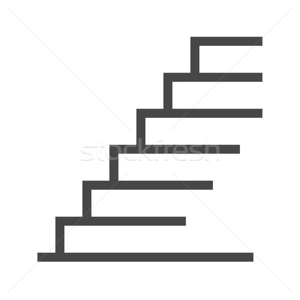 Stairs Thin Line Vector Icon Stock photo © smoki