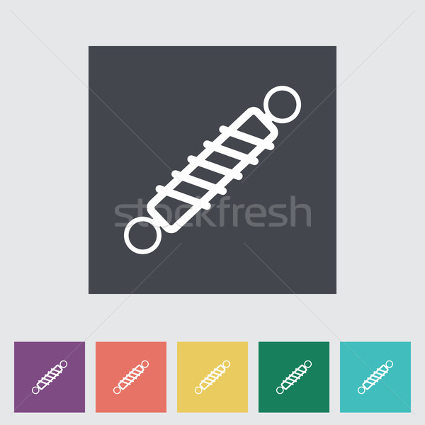 Automobile shock absorber flat single icon. Stock photo © smoki