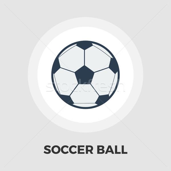 Soccer ball icon flat Stock photo © smoki