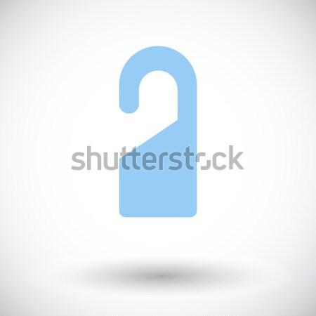 ドア タグ アイコン 白 デザイン にログイン ストックフォト © smoki