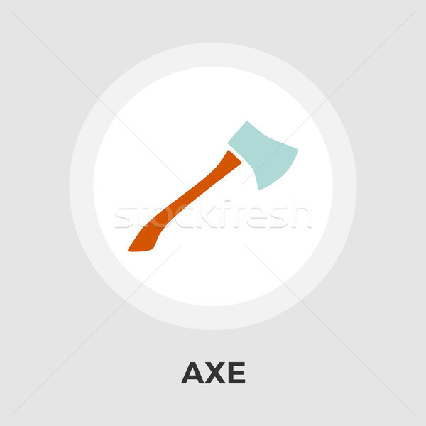 Axe Vector Flat Icon Stock photo © smoki