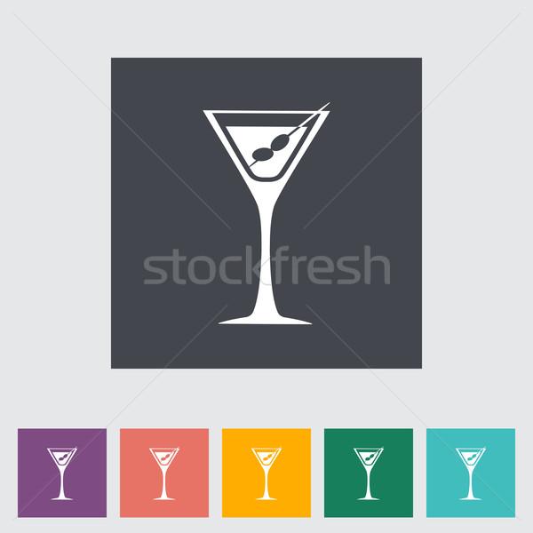 Martini ícone comida festa projeto vidro Foto stock © smoki