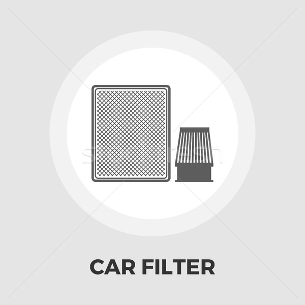 Automotive filter flat icon Stock photo © smoki