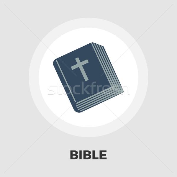 Bible flat icon Stock photo © smoki