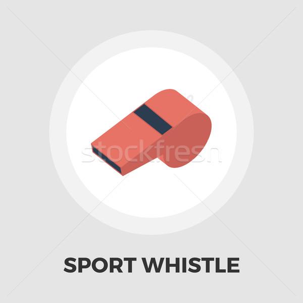 Esportes assobiar ícone vetor isolado branco Foto stock © smoki