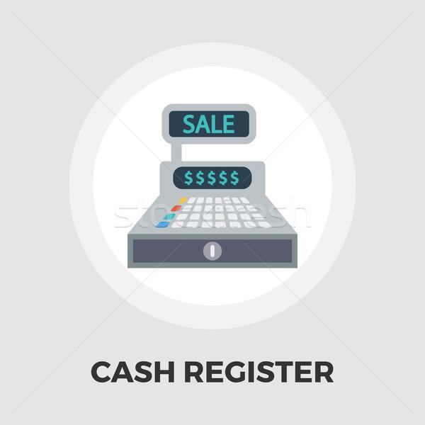 Cash register flat icon. Stock photo © smoki