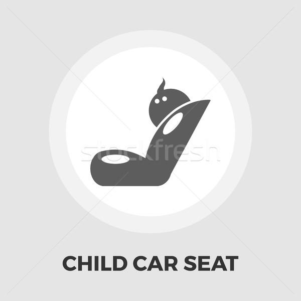 Nino coche asiento icono vector aislado Foto stock © smoki