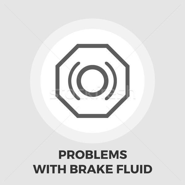 Problemi freno fluido icona vettore isolato Foto d'archivio © smoki