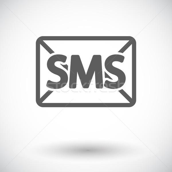 конверт икона белый интернет контакт почты Сток-фото © smoki