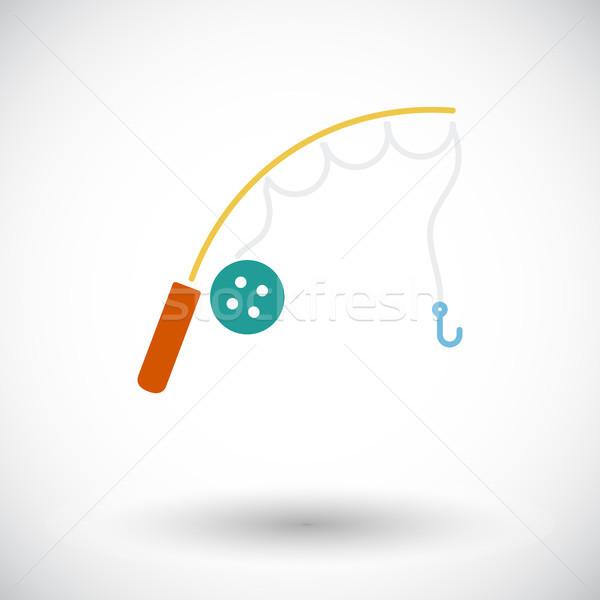 удочка вектора икона мобильных веб применения Сток-фото © smoki