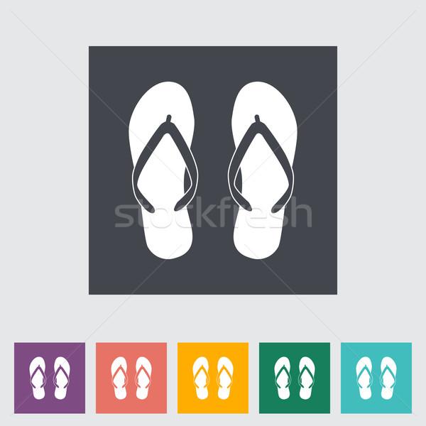 Plaj terlik moda sanat yaz ayakkabı Stok fotoğraf © smoki