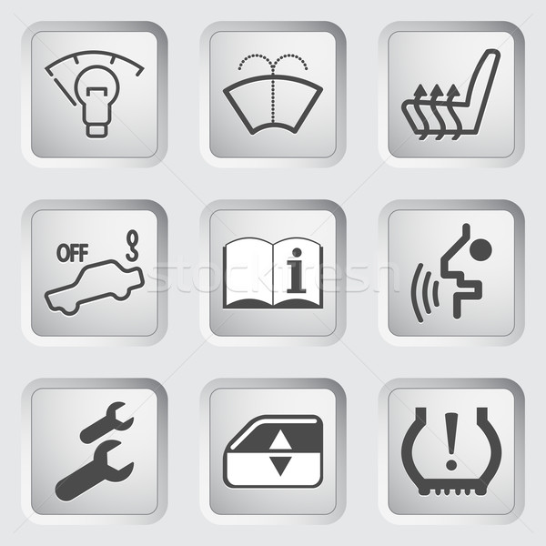 Car Dashboard icons 4 Stock photo © smoki