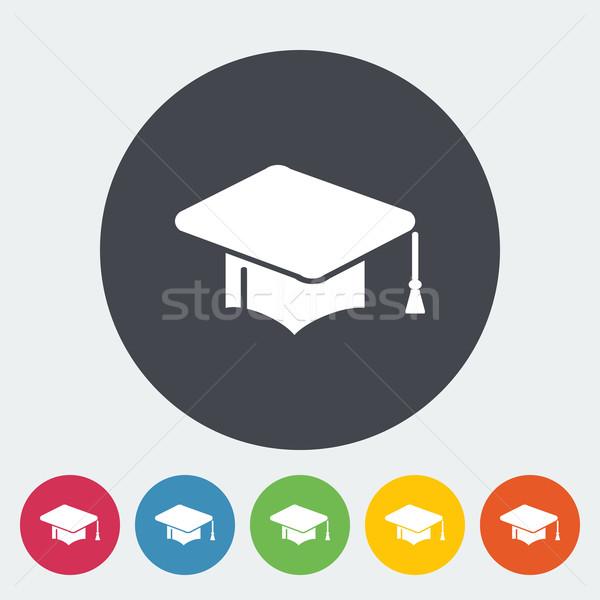 Eğitim ikon daire kâğıt okul boyama Stok fotoğraf © smoki
