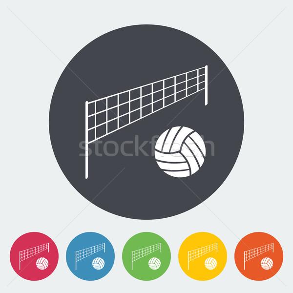 Voleibol ícone círculo praia escolas projeto Foto stock © smoki