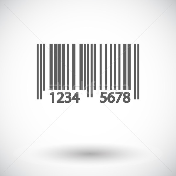 Qr code icon witte business abstract ontwerp Stockfoto © smoki
