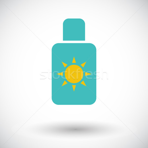 Protetor solar ícone branco projeto arte laranja Foto stock © smoki