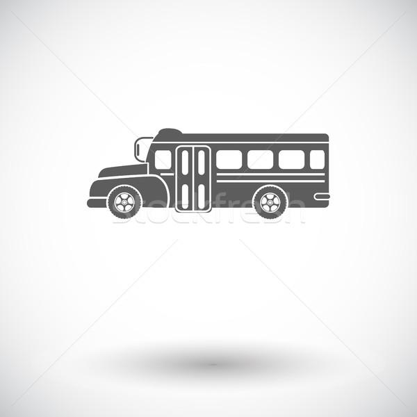 スクールバス アイコン 白 道路 市 芸術 ストックフォト © smoki