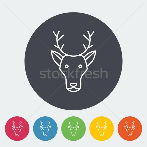 Deer icon Stock photo © smoki