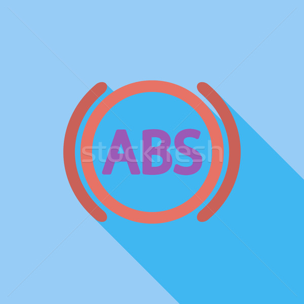 ABS flat single icon. Stock photo © smoki