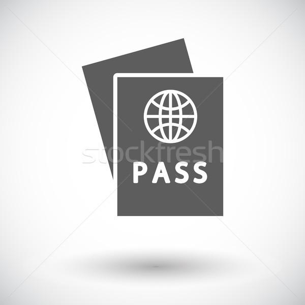 Paspoort icon witte wereld teken reizen Stockfoto © smoki
