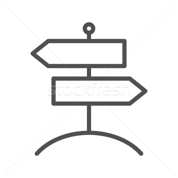 Kierunkowskaz wektora ikona cienki line odizolowany Zdjęcia stock © smoki