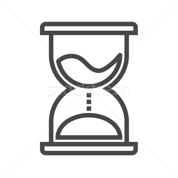 Hourglass Thin Line Vector Icon Stock photo © smoki