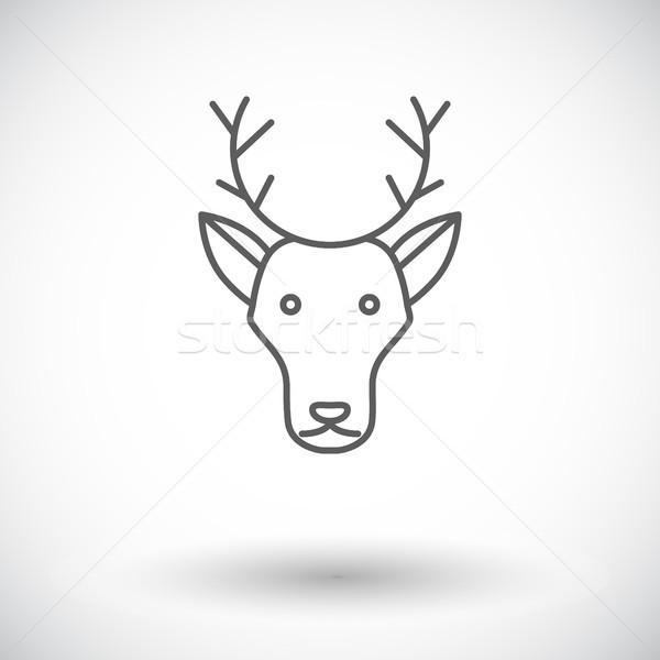 Hirsch Symbol weiß Gesicht abstrakten Natur Stock foto © smoki