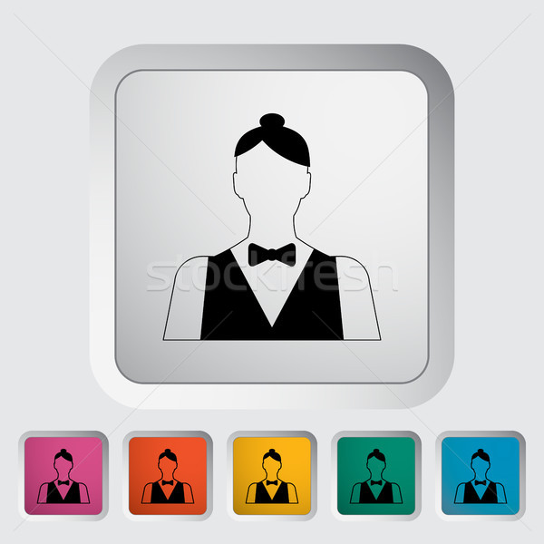 Vivere concessionario icona pulsante donne design Foto d'archivio © smoki