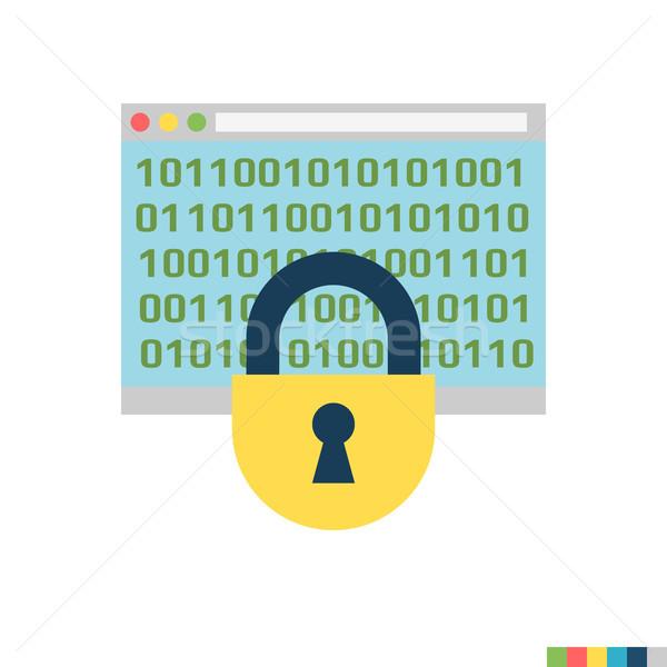 Cryptography Flat Icon Stock photo © smoki