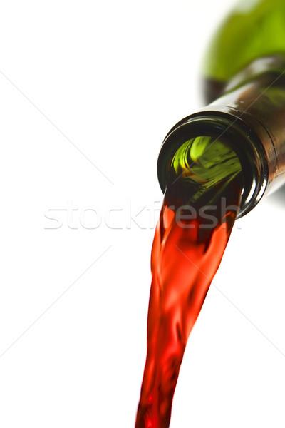 şişe kırmızı dışarı beyaz Stok fotoğraf © smoki